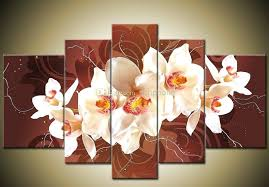 orchid wall art framed 5 panel large orchid canvas painting wall art home throughout orchid canvas orchid wall art 5 pieces canvas  on orchid canvas wall art with orchid wall art 3 panel orchid flower painting wall canvas prints