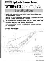 Crawler Cranes Kobelco 7150 Specifications Cranemarket