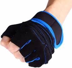 HANDCUFFS 1 Pair Weight Lifting Gloves <b>Half Finger Fitness</b> ...