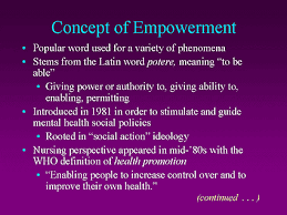 patient empowerment combining patient goals of therapy slide 6 concept of empowerment