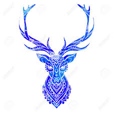 Ornament Deer Vector Beautiful Illustration Deer For Design Print Clothing Stickers Tattoos Adult Coloring Book Hand Drawn Animal Illustration