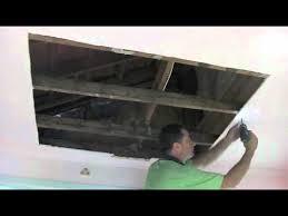 water damagedrywall plaster ceiling
