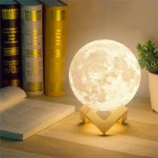decbest 13cm 3d moon lamp usb led 3 colors changing night light table desk lamp home