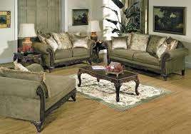 traditional living room furniture ideas. Traditional Living Room Furniture | Alpine Microfiber Sofa W/Wooden Accents Ideas N