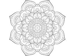 Easy Mandala Coloring Pages Printable Mandala Coloring Pages To