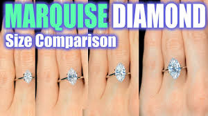 Engagement Ring Diamond Size Chart Marquise Cut Diamond Size Comparison On Hand Finger Engagement Ring Shaped 1 Carat 3 Ct 33 2 5 1 5