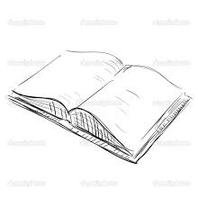 drawings of books vector icon of book in sketch hand drawing style