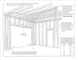 garage door header garage door header size chart home design app 9 garage door header size