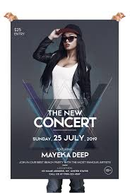 The Concert Party Free Party Psd Flyer Template