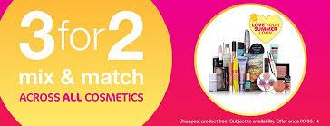 codes super 3 for 2 spring makeup offers brands include rimmel maybelline mua sleek makeup and more