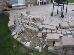 raised stone patio ideas how to build a raised paver patio