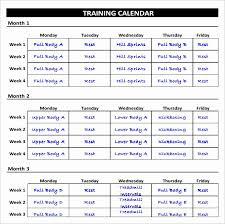 50 Workout Schedule Template Excel Culturatti