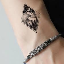 алмазный холм временная татуировка для женщин боди арт наклейки для