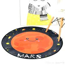 new yellow round rug or yellow round rug round cartoon planet rug polyester anti slip