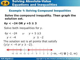 solving absolute value equations and inequalities algebraically a