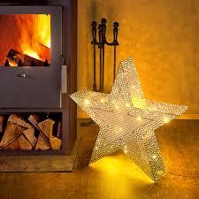 Orientalischer Weihnachtsstern 40 Warmweiße Leds Metall