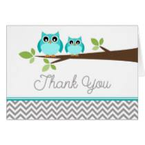 9 Baby Shower Thank You Wording  Questionnaire TemplateOwl Baby Shower Thank You Cards