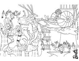 Small Picture Mermaids party under the sea free barbie coloring pages