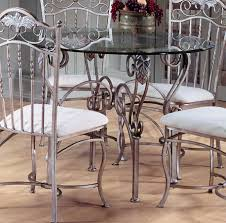 wood and wrought iron furniture. Dining Room, Wrought Iron Room Table And Chairs Indoor Set With Glass Round Wood Furniture