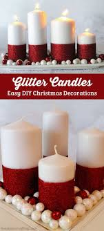 Glitter Candles Add Extra Sparkle to Decor