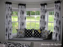 Attractive Curtains For Bow Windows Curtain Pretty Bay Window Ideas  Enchanting Home With Remodel 27