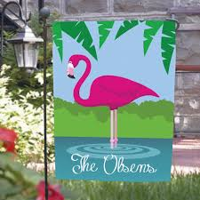 flamingo garden flags. Simple Garden Personalized Pink Flamingo Garden Flags This Tropical  Flag Adds Bright Colors And A Wonderful Welcome To Your Yard Or Garden On Flags D