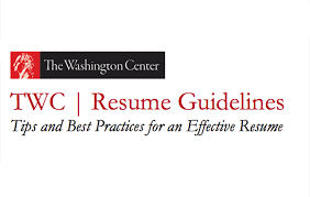 Resume Guidelines Simple Tips For Writing An Effective Resume The Washington Center