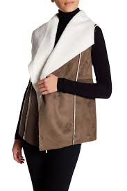 Nordstrom Rack Petite Coats SUSINA Faux Shearling Faux Suede Vest Regular Petite Products 80