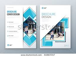 Blue Corporate Business Annual Report Brochure Stock Vektorgrafik