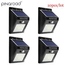2 <b>10pcs 30 LED</b> Solar Power <b>Garden</b> Light <b>Outdoor</b> PIR Motion ...