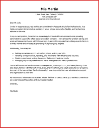 Lovely Administrative Assistant Cover Letter Samples Personal Leave