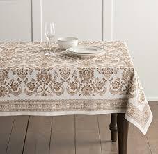 ralph lauren cedarberry white tablecloth 70 inch round kitchen dining 66u4dmy0o