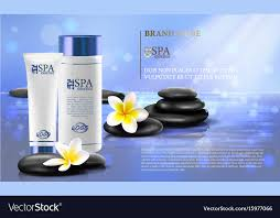 Spa Brochure Template Cool Spa Cosmetics Advertising Brochure Template Vector Image
