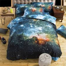 3d bedding sets unicorn universe outer space quilt duvet cover bed sheet blue galaxy new 4 3pcs pillowcase twin queen