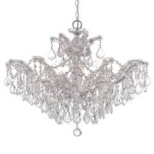 crystorama maria theresa 6 lt clr crystal chrome chandelier ii 4439 ch cl