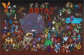 drew a poster of all dota2 heroes tell me it s good please