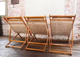 mid century modern vintage bamboo loungers wood japanese deck chairs outdoor fold up lounge