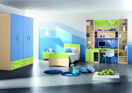 Blue And Green Decor Twin Teenage Bedroom Colors With Simple White Wall Painting And
