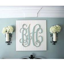 wooden monogram letters for wall wood nursery decor art large
