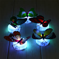 por kids wall lights lots. Romantic Colorful LED Color Changing Butterfly Night Light Bed Lamp Home Illumination Decorative Wall Nightlights Por Kids Lights Lots S