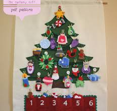 advent calander christmas tree advent calendar pattern 29 ornaments