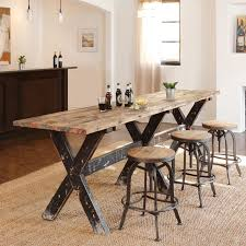 Dining Room: interesting narrow dining table with bench Narrow