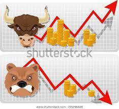 Secular Bull Bear Analysis Market Chart Stock Vector