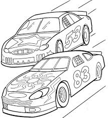 Small Picture Two Car Track Racing Coloring Page Race Car Car Coloring Pages