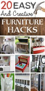 furniture hack. an awesome list of easy diy furniture hacks this makes me want to go thrift hack