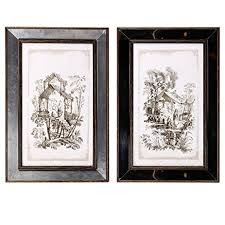 decorative rustic couture wall art reflective framed art 16x24 quot asian tree house set of on set of two framed wall art with amazon decorative rustic couture wall art reflective framed art