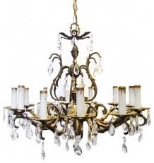 vintage chandelier traditional spanish spanish brass crystal chandeliers