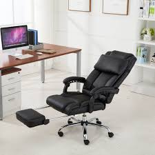 office chair back. Executive Reclining Office Chair Ergonomic High Back Leather Footrest Armchair | EBay