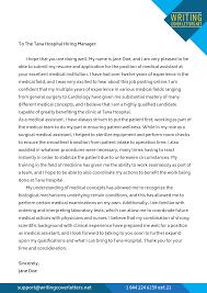 Medical Application Letter Sample Medical Director Cover Letter Professional Expert Writing