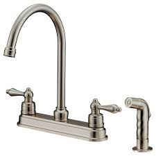 Kitchen Faucets Brushed Nickel Lk8b Brushed Nickel Kitchen Faucet With Shower Sprayer